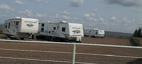 Campers at an RV park